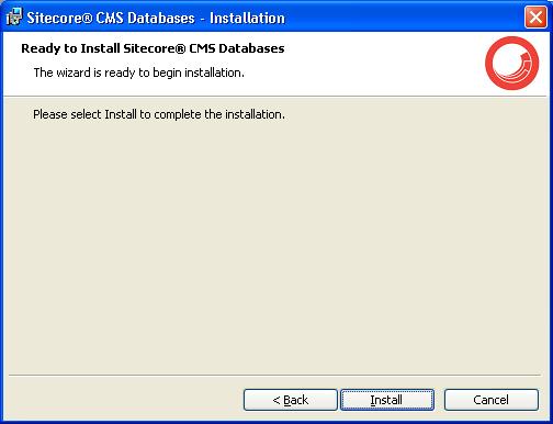 Using the Sitecore Installation Program - SDN